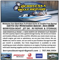 Boat Repair Winterization 2018